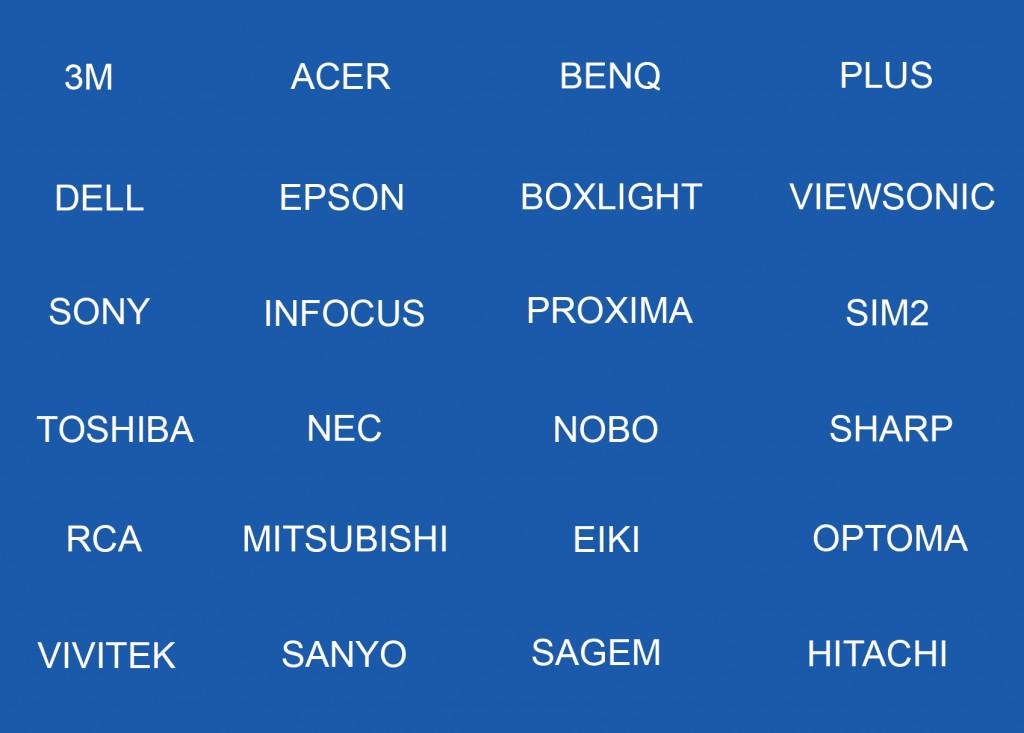 Lista de las marcas de videoproyectores